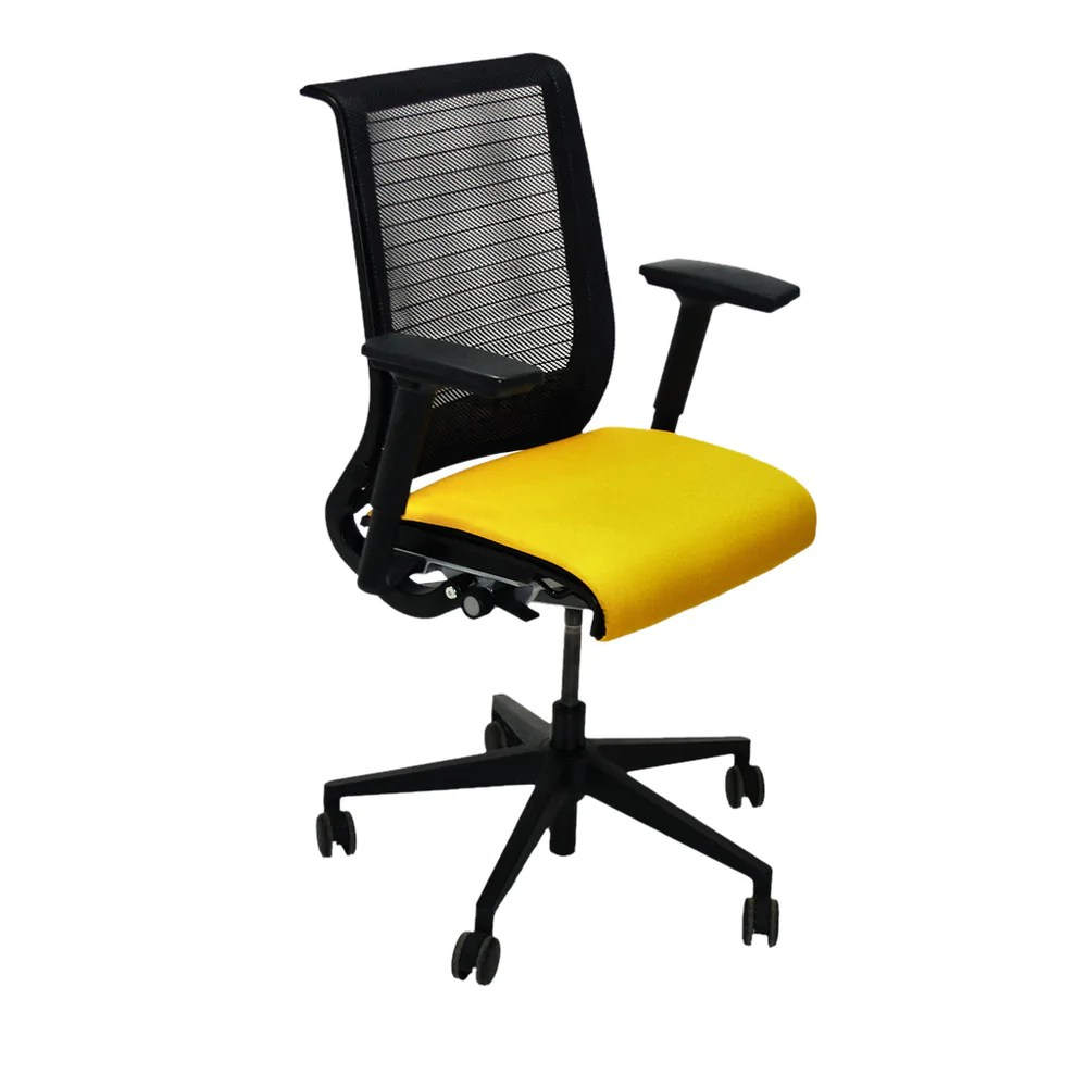 Steelcase Think Chair Steelcase Think Office Chair In New Yellow Fabric