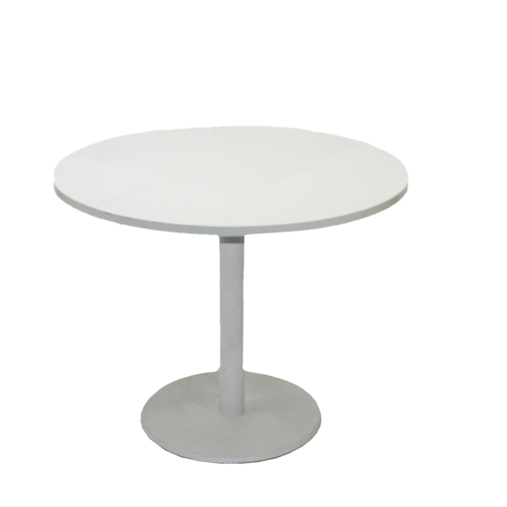 round chair on stand desk diagram steelcase 900mm table with steel centre