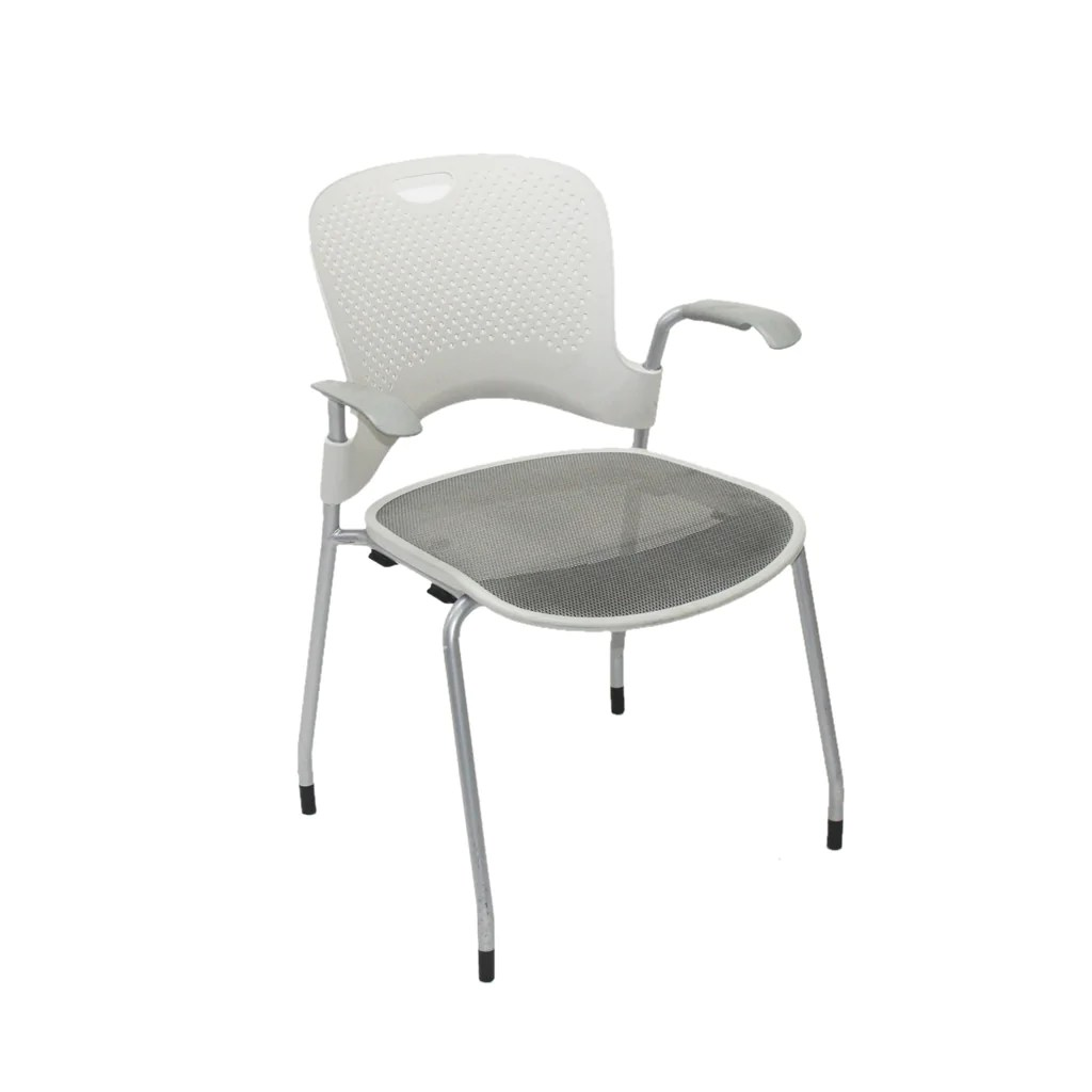 herman miller stacking chairs toddler rocking chair white mesh caper arm 2ndhnd com quality office furniture
