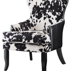 Cow Print Chairs Desk Chair Groupon Mooey Modern Black And