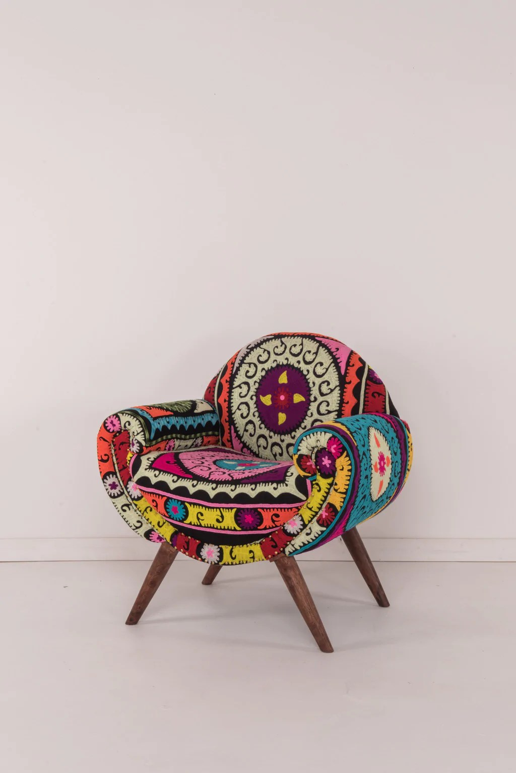 Aztec Chair Neon Aztec Embroidered Nest Chair Ian Snow Ltd