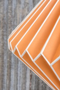 Paper Lampshade in Orange | Handmade and Fairtrade  Ian ...