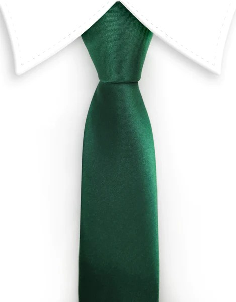 Dark Green Satin Skinny Tie  GentlemanJoe