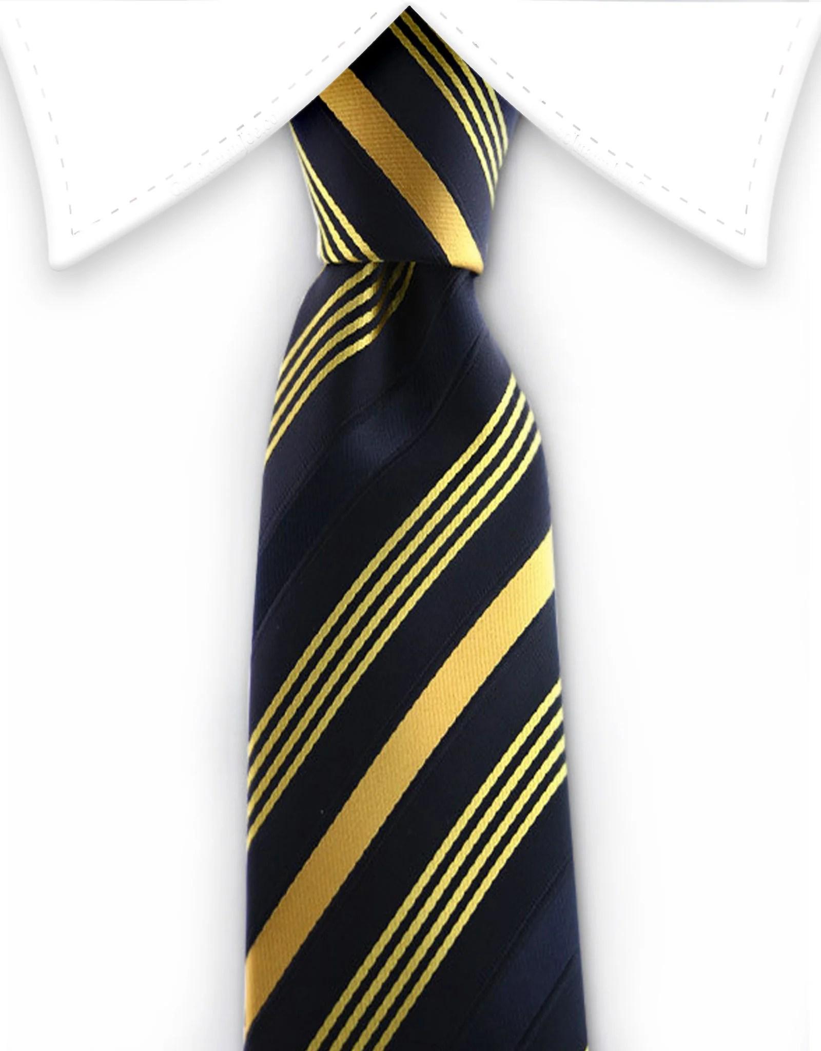 Black and Golden Yellow Striped Skinny Tie  GentlemanJoe