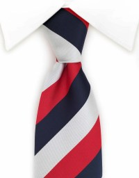 Red, White and Blue Tie  GentlemanJoe