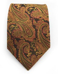 Golden Orange Paisley Tie  GentlemanJoe