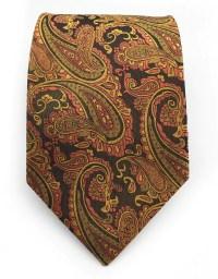 Golden Orange Paisley Tie  GentlemanJoe
