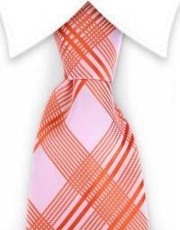 Orange Plaid Necktie  GentlemanJoe