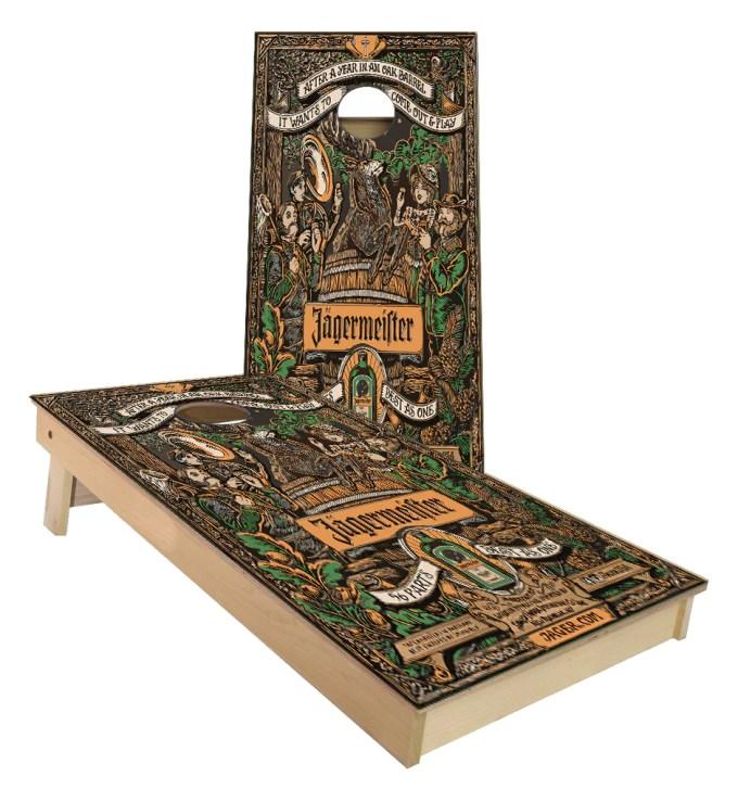 Jagermeister 56 Parts Oak Aged Custom Cornhole Boards Cornhole America