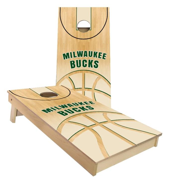 Milwaukee Bucks Basketball Court Cornhole Boards Cornhole America