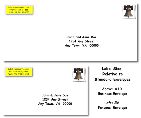 traditional address label sheets