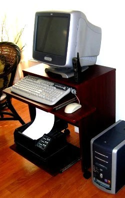 S2326 23 W Compact Computer Desk with keyboard shelf