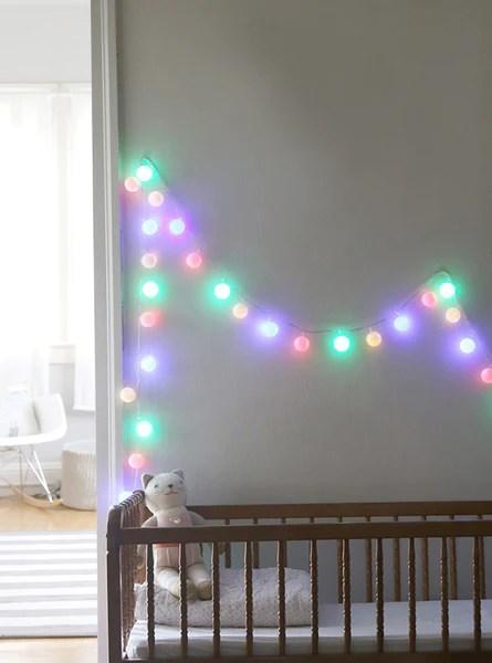 String Lights In The Nursery Weedecor