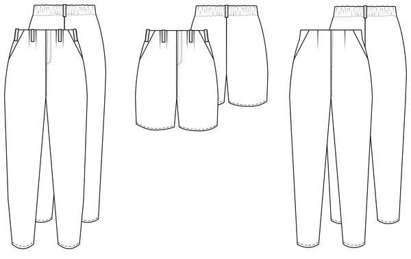 Line drawing of the Chandler trousers.