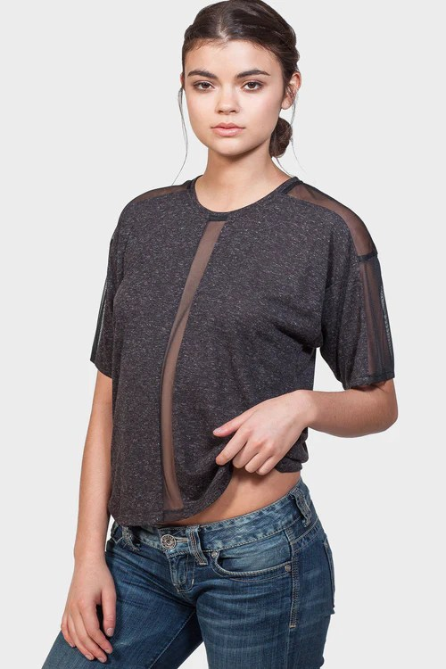 337 Brand - 9% OFF CENTER FRONT MESH PANEL TOP (WAS:$ 65.00   NOW:$ 59.00)