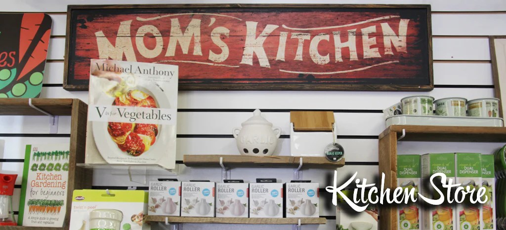 kitchen tools store decorative towels local chico ca little red hen mom s display with cookbooks and
