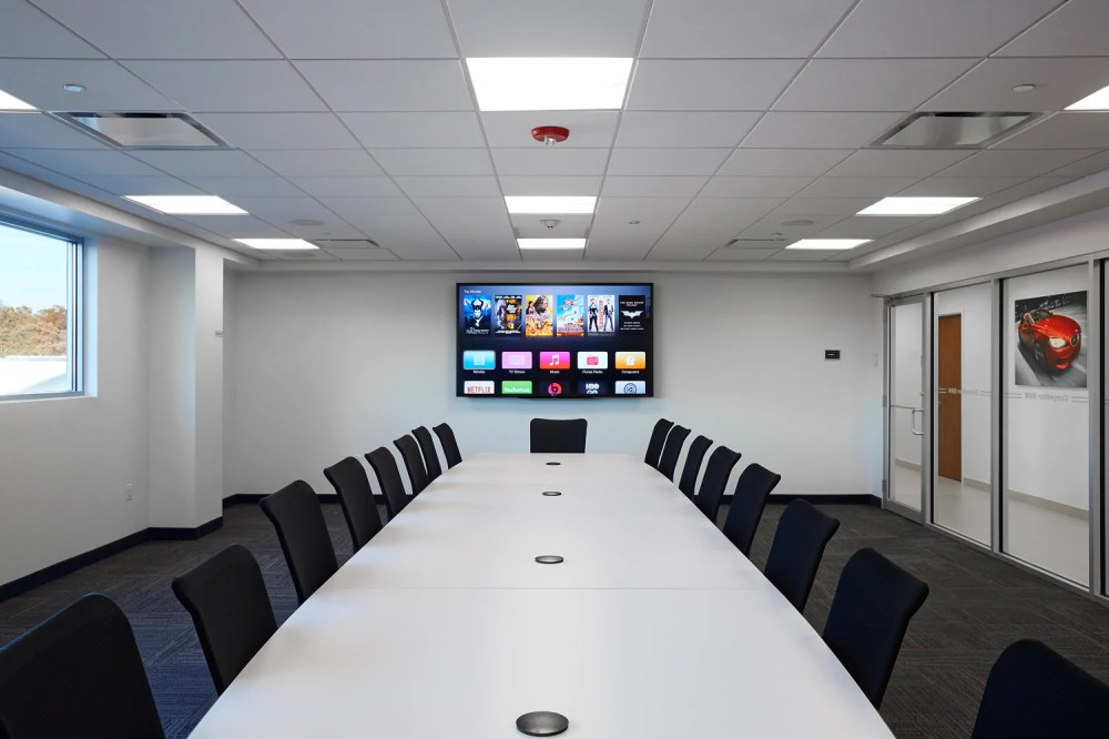 medium resolution of commercial boardroom video installation