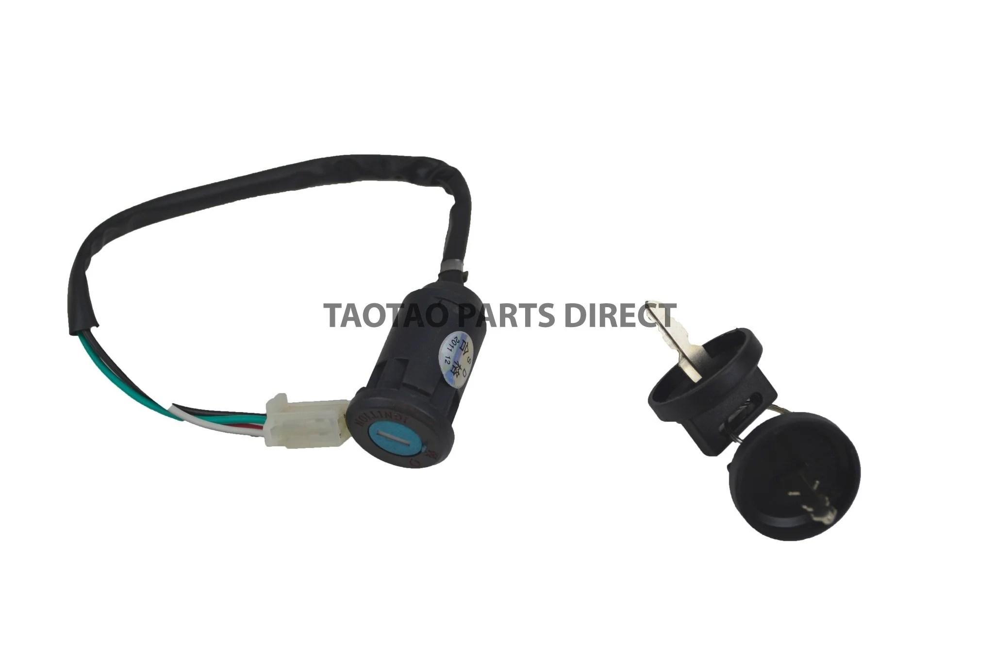 medium resolution of 110 125 key ignition taotaopartsdirect com