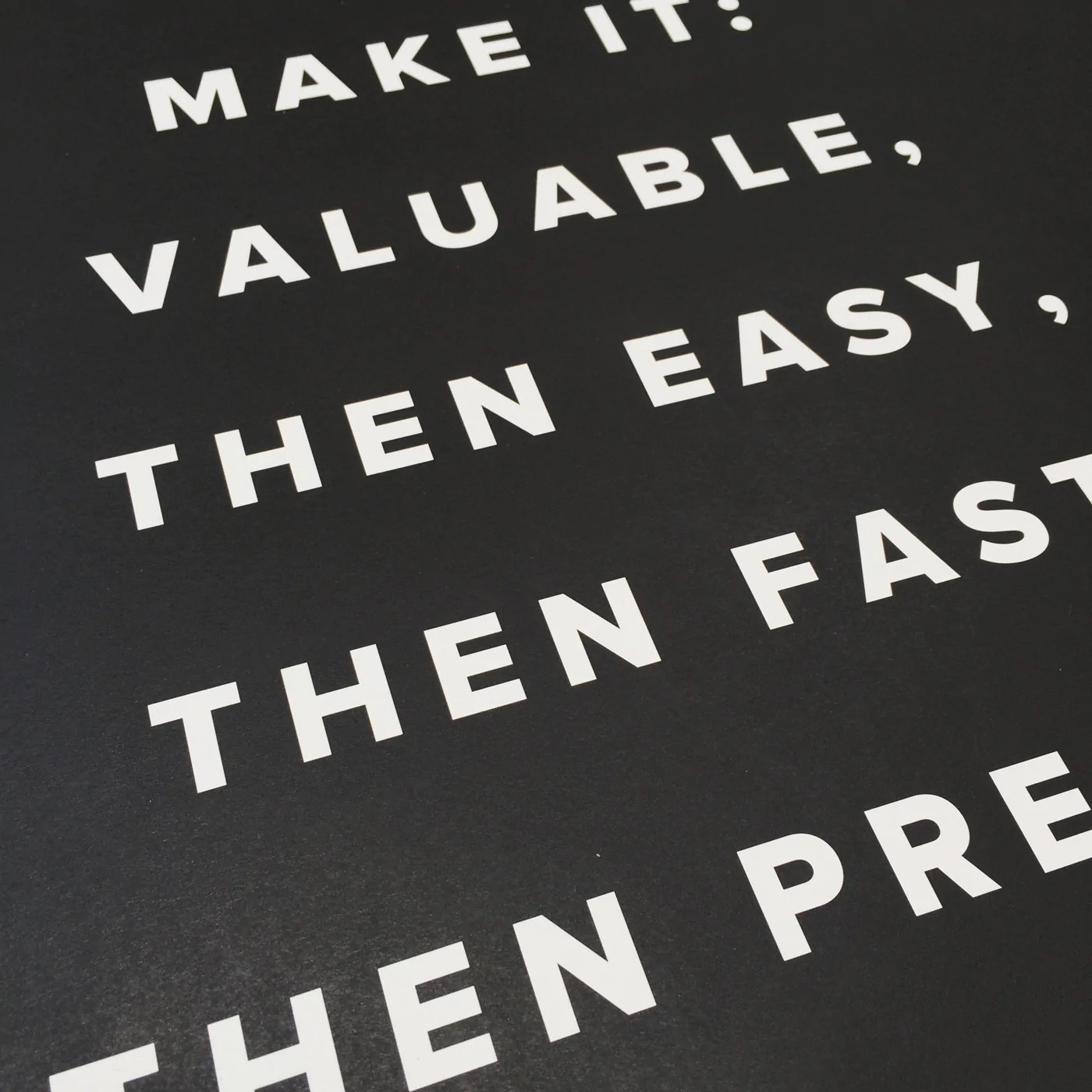 make it valuable poster