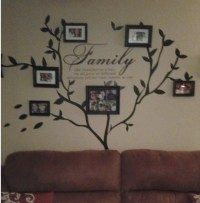 Family Vinyl Photo Tree and Family love quote Wall Decal ...