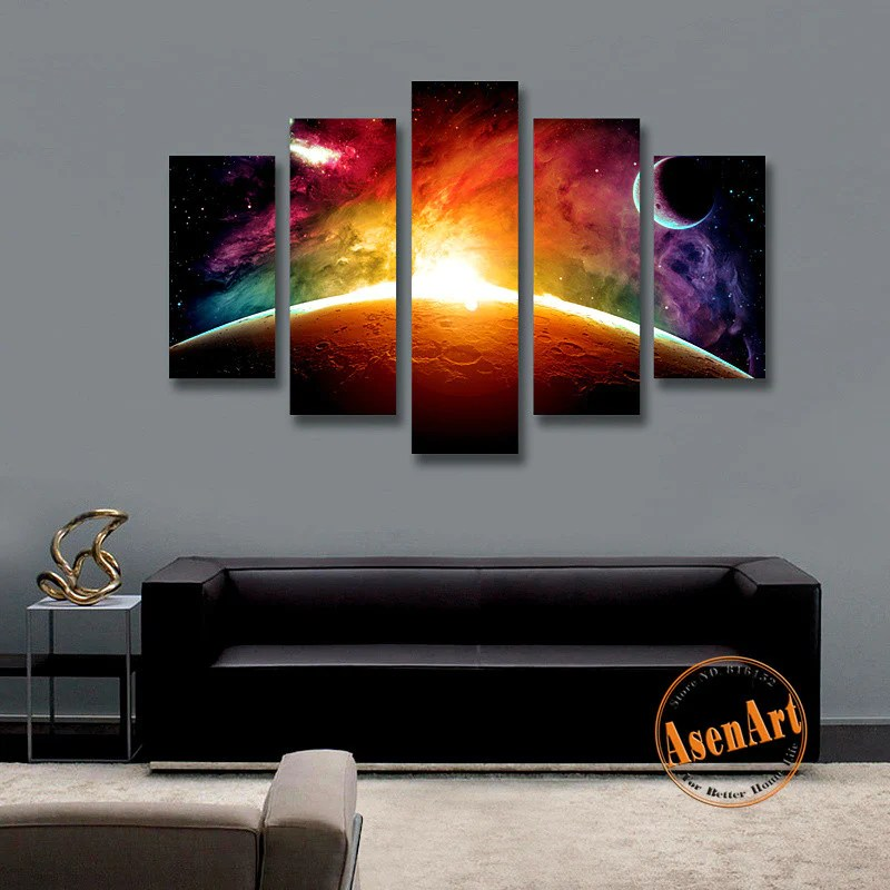 5 Panel Canvas Wall Art Painting