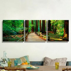 Modern Artwork For Living Room Seaside Decor Oil Paintings Canvas Forest Trail Wall Art Decoration Home On Pictures