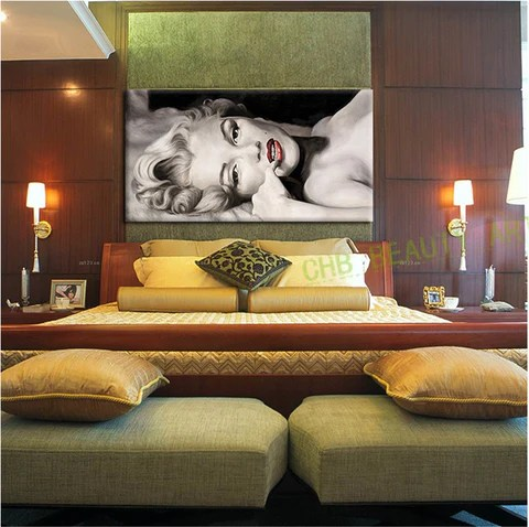 sexy living rooms room remodel pictures marilyn monroe canvas painting wall for print home decor artwork