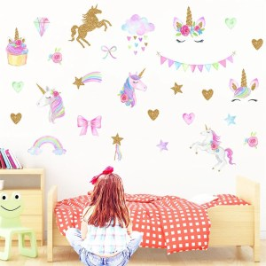 bedroom cartoon unicorn stickers animal mural decals mia stitch