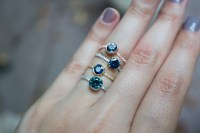 Deep Blue Montana Sapphire Engagement Ring  S. Kind & Co