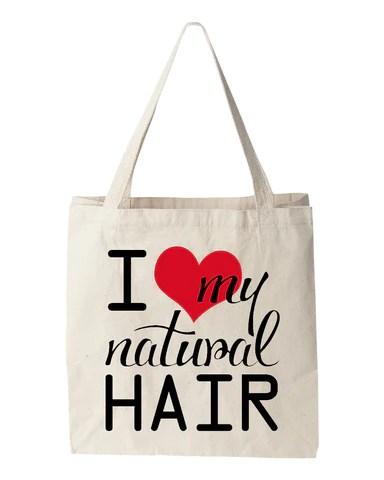 love natural hair tote bag