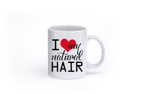 love natural hair mug