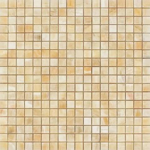 5 8 x 5 8 honey onyx polished mosaic tile