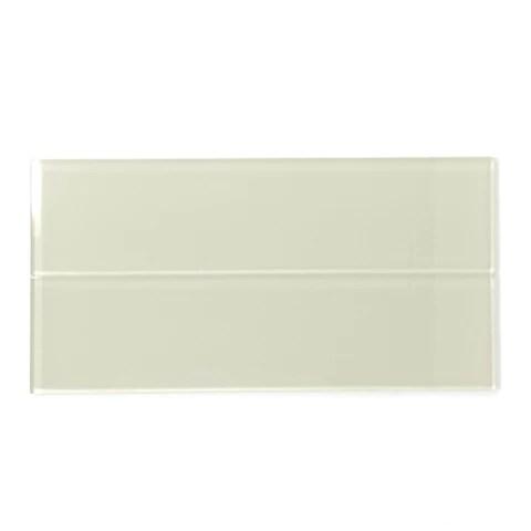 3 x 12 cream beige glass subway tile rainbow series