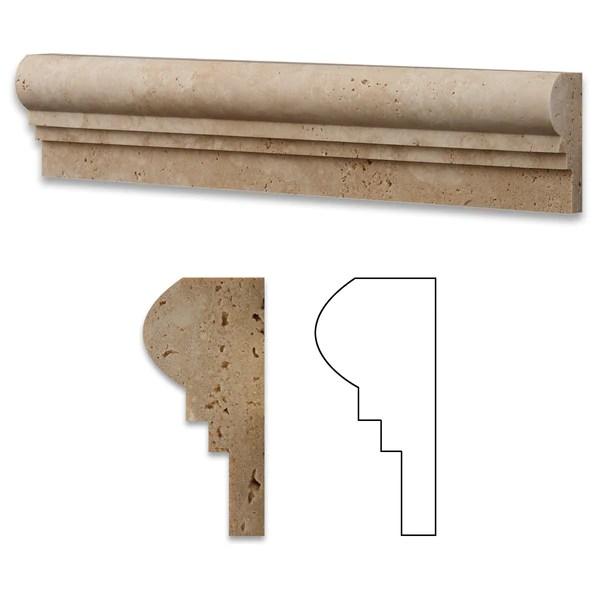 home depot chair rail molding efavormart black covers ivory travertine og-2 trim honed
