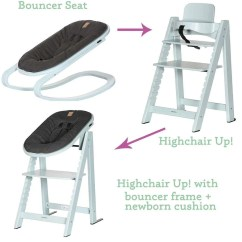 Green High Chair Outdoor Plans Kidsmill Highchair Up Bouncer In Soft Natural Baby Shower Chairs