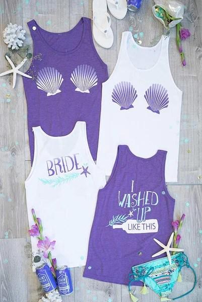I Washed Up Like This  Bride  Seashell Bra  Mermaid