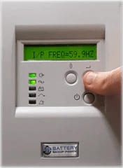 Battery Backup Power Uninterruptible Power Supply (UPS) Input Frequency