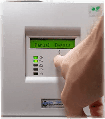 Battery Backup Power, Inc. Uninterruptible Power Supply (UPS) System Manual Bypass