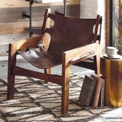 Leather Sling Chairs Steel Chair Covers Roost Paolo Shop Nectar Accent Furniture