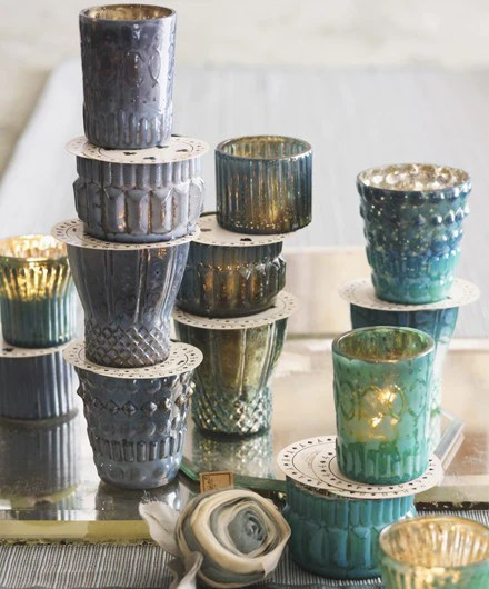 Roost Shimmering Mercury Glass Votive Holders  SHOP NECTAR