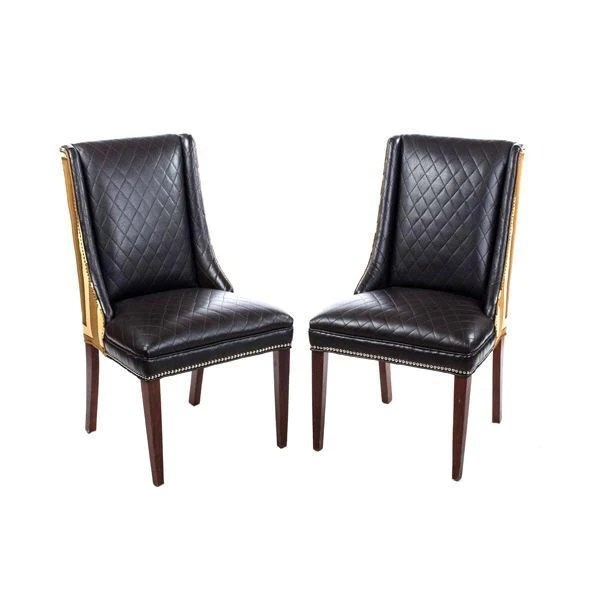black parsons chair adirondack chairs recycled materials in leather fabric desirant