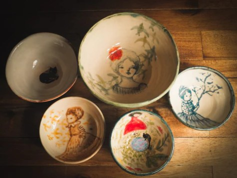 Original ceramics artwork by Idania Salcido, the artist behind Danita Art. Plates, vases, pet bowls and unique hand painted food safe pieces make unique additions to your one of a kind kitchenware.