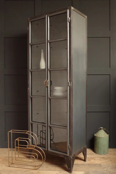 Industrial Style Display Cabinet  Vincent and Barn