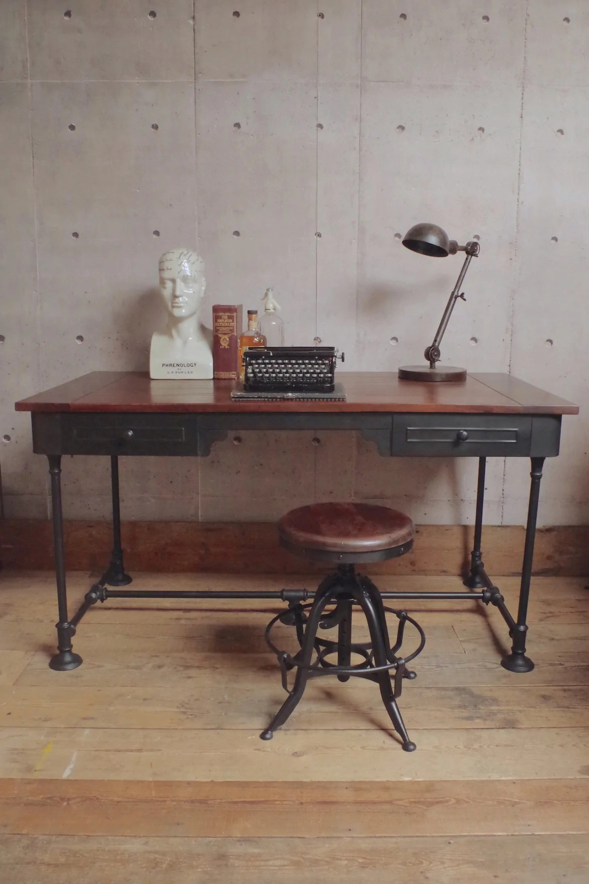 Steampunk Desk Industrial Furniture Vincent And Barn