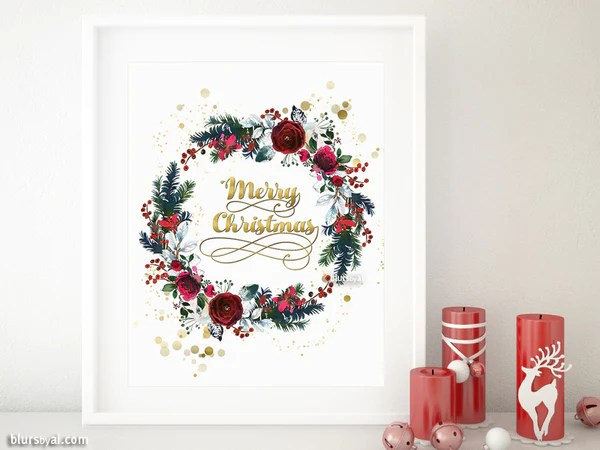 Christmas Print Out Decorations