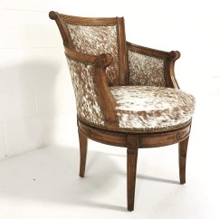 Brown Swivel Chair Peppa Pig Vintage In And White Speckled Cowhide Forsyth