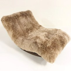 Adrian Pearsall Rocking Chair Plumbs Dining Room Covers Vintage Wave Chaise Rocker Restored In New Zealand Sheepskin Forsyth