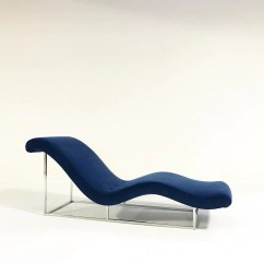 Pictures Of Chaise Lounge Chairs Hardwood Chair Mat Diy C 1970 Milo Baughman Restored In Loro Piana Blue Velvet Forsyth