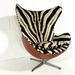 Jacobsen Egg Chair Leather Swivel Recliner With Ottoman Arne For Fritz Hansen Chairs In Zebra Hide And Forsyth