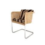 Wicker Chair With Zebra Cushions